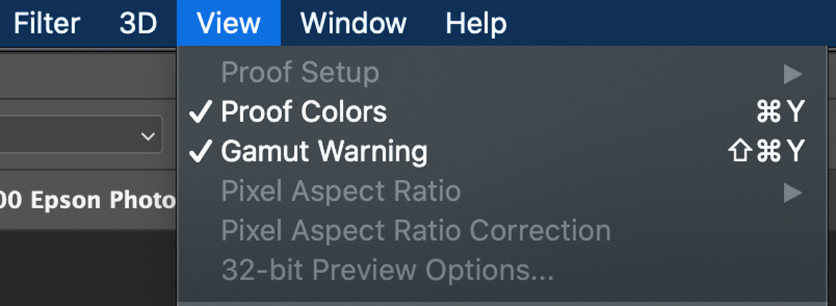 How to view proofing and gamut warning in adobe photoshop